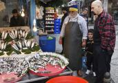 Locals Shopping for seafood at the Fish Market, Istanbul