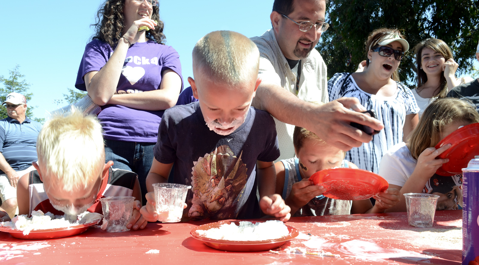 Worm Eating Contest - The Boy Standing up, Just Ate His FIRST Worm