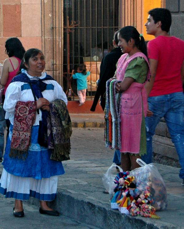 Women Selling Handmade Goods on the Streets of San Miguel de Allende