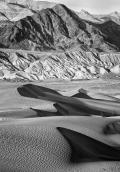 Mountains and dunes, Death Valley