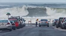 High surf caused many road closures in Pacifica this winter.