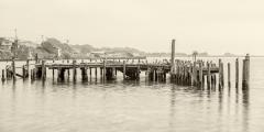 Old Pier in Bodega Bay, CA