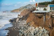 Boulders Are Placed to Combat Erosion on Pacifica's Coast