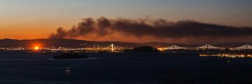 Smoke from a May 13th early morning 5 alarm fire could be seen for miles