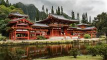 Byodo-In Temple, Oahu Hawaii, is a non-practicing Buddhist temple in the Valley of the Temples. Visitors of all faiths worship, meditate, and enjoy its beauty.
