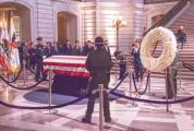 Public paying their final respects to San Francisco Mayor Ed Lee in San Francisco City Hall, December 15, 2017.