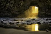 Pfeiffer Beach Arch at Sunset