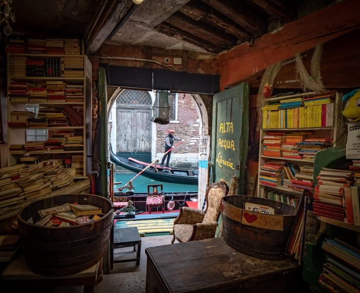 Old Bookstore in Venice
