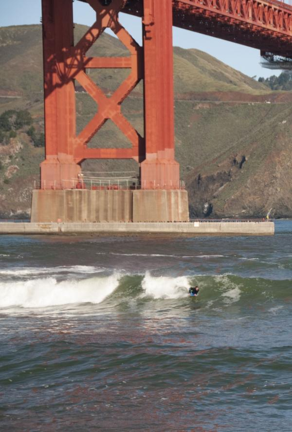 Golden Gate Bridge Surf is Up