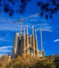 Sagrada Familia in Barcelona, Spain, which is under construction for 136 years will be finally completed in 2026