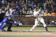 Buster Posey at Bat, SF Giants vs Chicago Cubs, AT&T Park, 07-09-2018