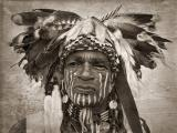 Portrait of a Blackfoot Indian.
