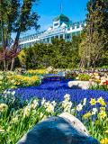 Hidden garden below Grand Hotel, Mackinac Island