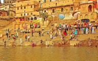 Bathing in the Holy Waters of the Ganges, Varanasi, India