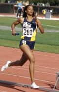 Running the 400 Meter Relay for Cal