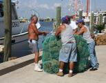 Fishermen pack sponges for shipment- Tarpon Springs, FL
