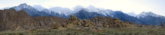 Alabama Hills and Sierra Nevada
