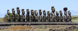 Maois at Ahu Tongariki, Easter Island