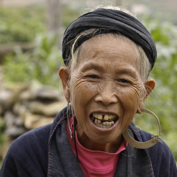 A Portrait of a Black Hmong Elderly Woman, Sapa, Vietnam