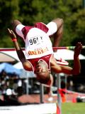 Clearing the bar at Stanford Meet