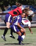 College Women's Soccer can get physical
