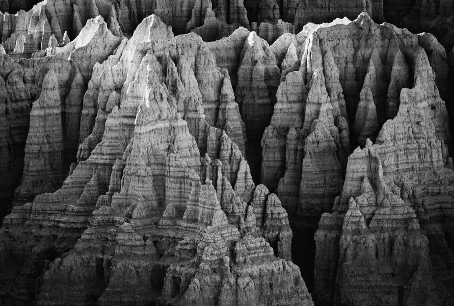 Badlands pinnacles from Sheep Mountain Table