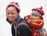 A Red Hmong lady and her son, Sapa, Vietnam