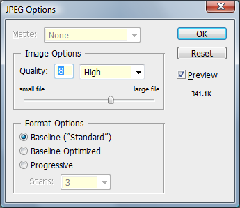 Jpeg Options
